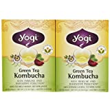 Pack of 2 x Yogi Tea Green Tea Kombucha - Contains Caffeine - 16 Tea Bags