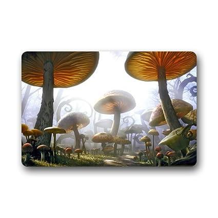 Indoor Mushroom Garden Amazon custom psychedelic mushroom door mats cover non slip custom psychedelic mushroom door mats cover non slip machine washable outdoor indoor bathroom kitchen decor workwithnaturefo