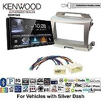Volunteer Audio Kenwood DDX9704S Double Din Radio Install Kit with Apple Carplay Android Auto Fits 2011-2014 Kia Sportage (Silver)