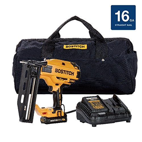 BOSTITCH BCN662D1 20V Max 16 Ga 스트레이트 피니시 네일 키트/BOSTITCH BCN662D1 20V Max 16 Ga Straight Finish Nailer Kit