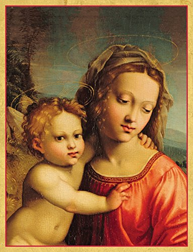 [Entertaining with Caspari Madonna And Child Christmas Cards, Box of 16] (Jesus Christmas Card)