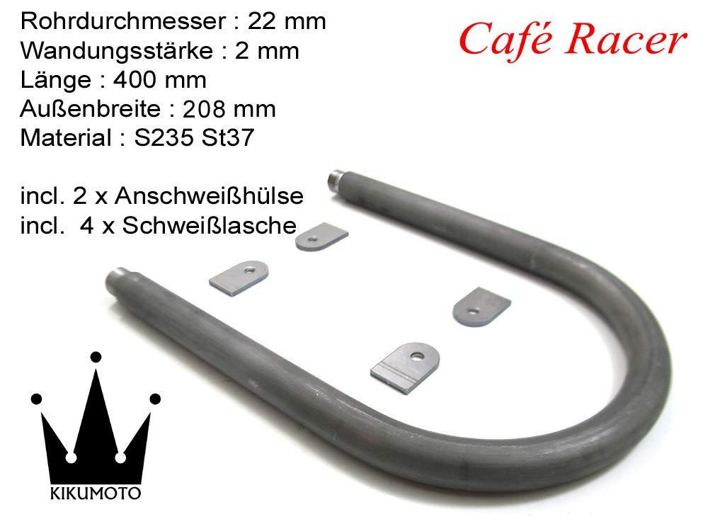 Breite 208 x L/änge 400 mm Cafe Racer Loop Scrambler Bobber /Ø 22 x 2