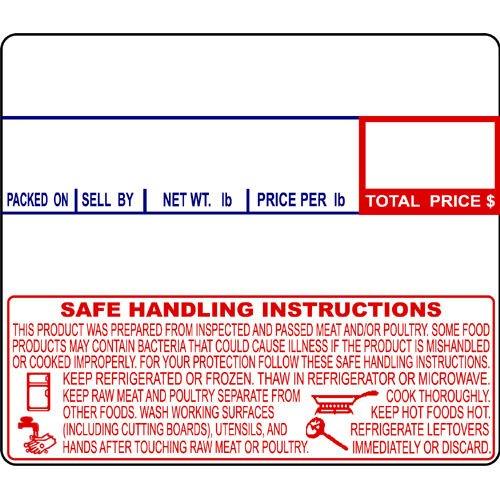 Label Safe - CAS LST-8030 Printing Scale Label, 58 x 50 mm, Non-UPC/Safe Handling, 12 Rolls Per Case