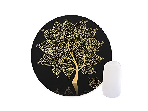 Gold Tree Round Mouse pad Customized Non Slip Rubber Round Mouse pad Non Slip Rubber Mouse pad Gaming Mouse Pad (Colormouse Pads)