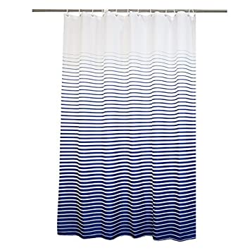 Ufaitheart 36 X 78 Inch Long Shower Curtain Stripe Pattern Waterproof Fabric  Shower Curtain Stall Size