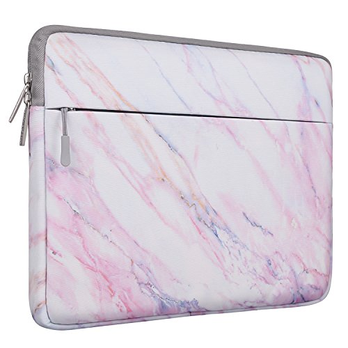 MOSISO Laptop Sleeve Bag Compatible 13-13.3 Inch MacBook Pro, MacBook Air, Notebook Computer, Protective Chromebook Tablet Carrying Case Cover, Pink Marble Pattern