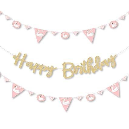 Amazon.com: Swan Soiree - Cartel para fiesta de cumpleaños ...