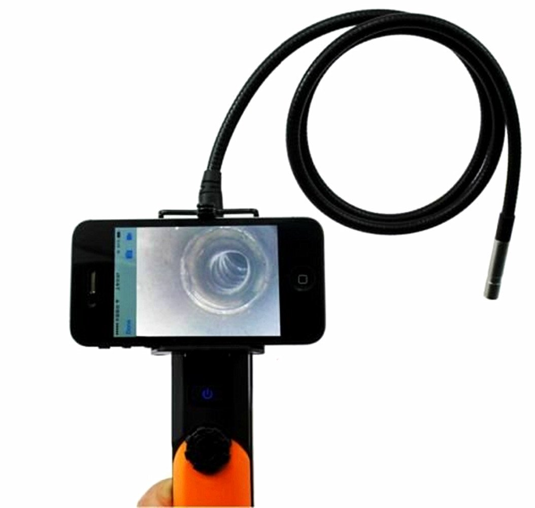 MXBAOHENG 2MP WIFI Endoscope Inspection Camera 1M Pipe Tube 6LED support Android phone