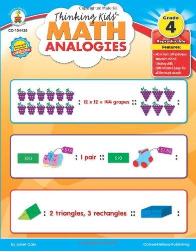 Thinking Kids'™ Math Analogies, Grade 4 (Thinking Kids (Carson-Dellosa)) pdf