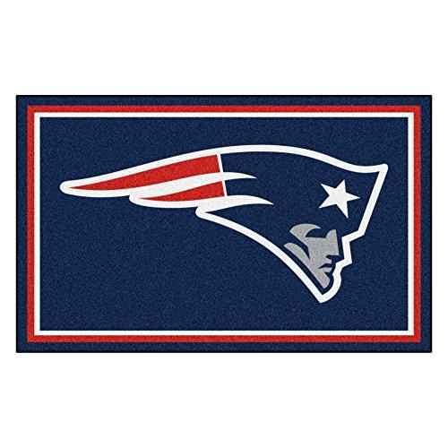 FANMATS NFL New England Patriots Nylon Face 4X6 Plush Rug (Floor England Rug)