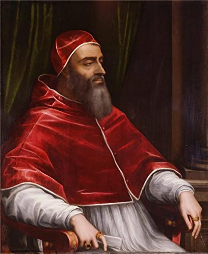'Pope Clement VII, About 1531 By Sebastiano Del Piombo' Oil Painting, 20x24 Inch / 51x62 Cm ,printed On High Quality Polyster Canvas ,this High Resolution Art Decorative Canvas Prints Is Perfectly Suitalbe For Dining Room Artwork And Home Decoration And Gifts