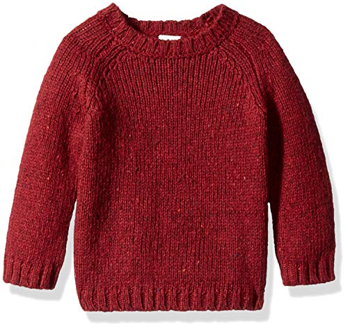 Baby Sweatshirt Red - Crazy 8 Baby Boys Pullover Sweater, Scarlette red 12-18 mo