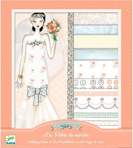 Djeco Paper Dolls, Ooh Fashion Wedding Dresses