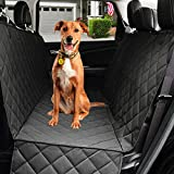 Dog Car Seat Cover Non-Slip Waterproof with Side Flap, Angooni Heavy Duty Pet Travel Seat Protectors for Trucks SUVs