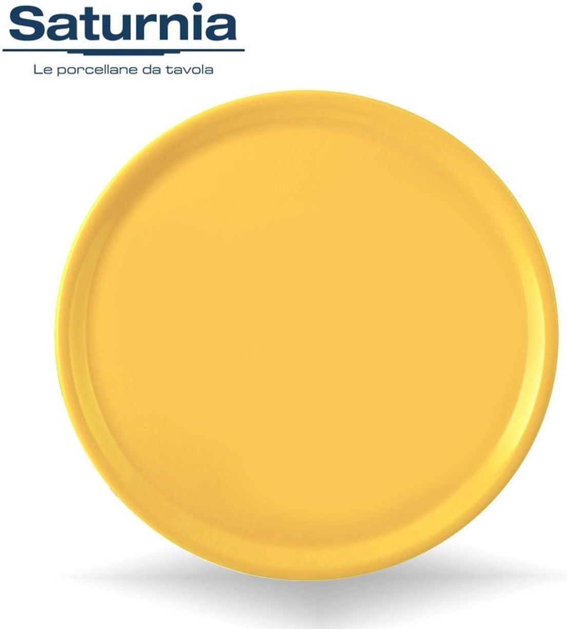 Saturnia Piatto da Pizza Piatto per Pizza Napoli in Porcellana Colore 33cm Verde