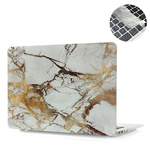 EWC 2in1 Print Frosted Hard Case Cover and clear keyboard skin for MacBook Air 13