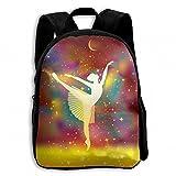 Ballerina Ballet Dancer Star Student School Backpacks Canvas Book Bag Casual Daypack Travel For Children