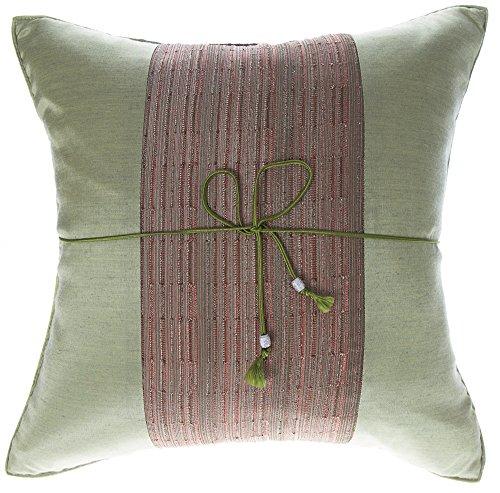 Avarada 16x16 Inch  Striped Crepe Decorative Throw Pillow Co
