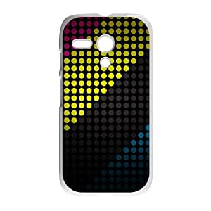Motorola G Cell Phone Case White Colorful Stripes 003 SYj_940571
