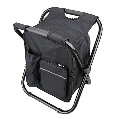 YangGuang Compact Lightweight and Portable Folding Stools Ultralight Backpack Cooler Chair Travel,Suitable for outdoor sports,Hiking, Camping, Tailgating, Beach, Parades(Black)