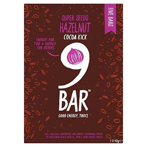 Price comparison product image Wholebake 9Bar Gluten Free Cocoa & Hazelnut Bars - 5 x 40g