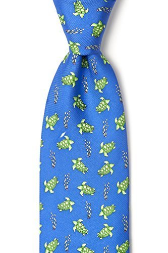 100% Silk Blue Swimming Sea Turtles Necktie Tie Neckwear