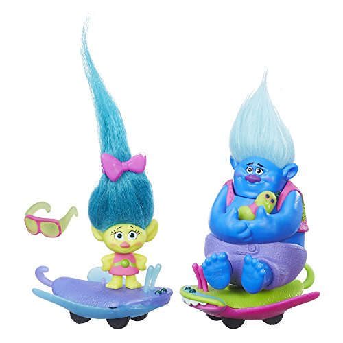 Mini Dolls Trolls Town e Veiculo Sort Hasbro Azul/Amarelo