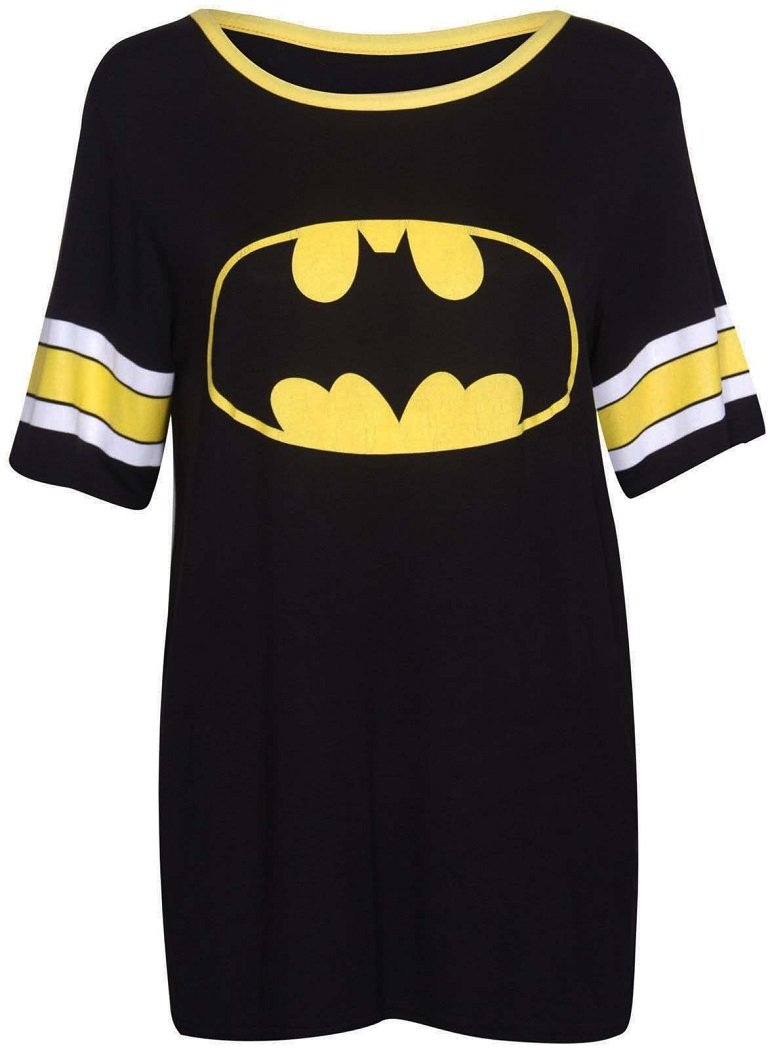 Crazy Girls Womens 85 Print Baggy T Shirt Short Sleeve Varsity American Baseball Sport Top