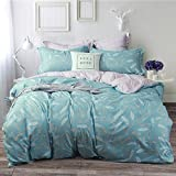 """Uozzi Bedding 3 Piece Duvet Cover Set with Zipper Closure,blue Printed Pattern Reversible, Brushed Microfiber, Lightweight Soft, Comfortable, Durable (blue,King102""""x90"""")"""