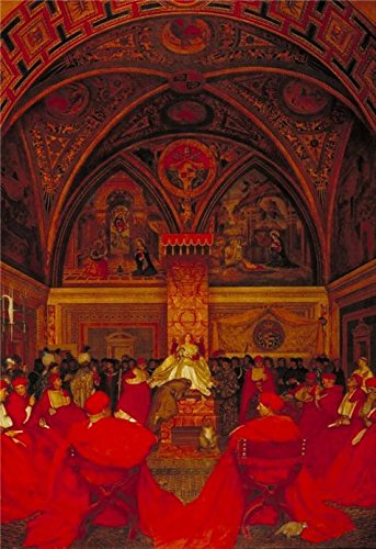 'Frank Cadogan Cowper - Lucretia Borgia Reigns In The Vatican In The Absence Of Pope Alexander VI,1910' Oil Painting, 30x44 Inch / 76x111 Cm ,printed On Perfect Effect Canvas ,this High Definition Art Decorative Canvas Prints Is Perfectly Suitalbe For Kitchen Artwork And Home Artwork And Gifts (Hampton Beach Stand Mixer compare prices)