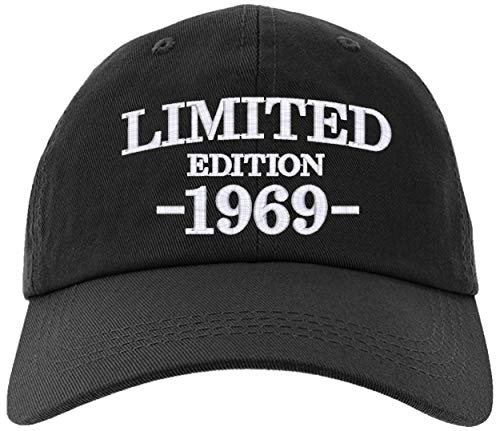 - Cap 1969-50th Birthday Gifts, Limited Edition All Original Parts Baseball Hat 1969-EM-0004-Black