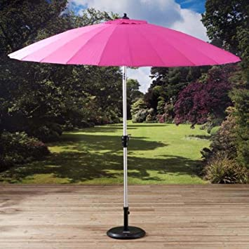 Pagoda Cerise Pink Shanghi Garden Umbrella Sunshade Parasol 27