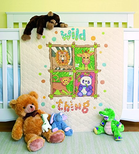 (Dimensions Baby Hugs Stitching Kit Stamped Quilt Wild Thing)