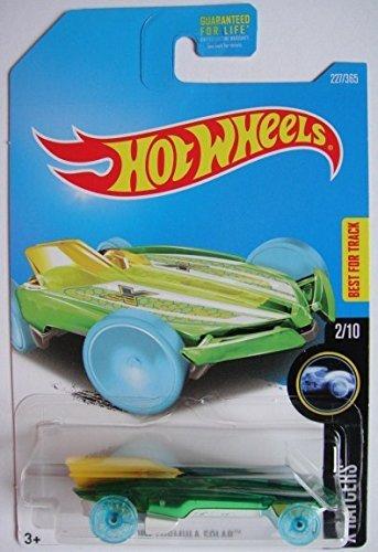 HOT WHEELS X-RAYCERS 2/10, GREEN/YELLOW HW FORMULA SOLAR 227/365 (Of 227 Cast)