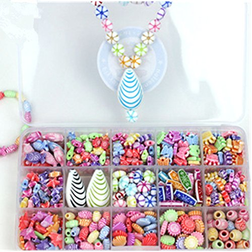Wool Beaded Shell - Spritech(TM) Colorful Shell Stringing Beads Toy DIY Jewelry For Children Necklace And Bracelet Crafts