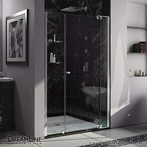 (DreamLine Allure 42-43 in. Width, Frameless Pivot Shower Door, 3/8