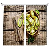 ZZHL Curtains Curtains,Hooks Rings Thermal Insulated Bedroom Blackout for Livingroom Kitchen Bar Cafe 2 Panels (Size : 132x160cm)