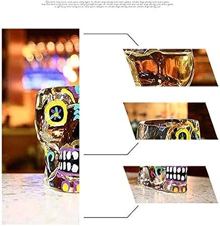 Botella de Whisky Con Vaso Gafas De Whisky 2 Conjunto De 70 Ml Dibujado A Mano Skull Plomo Línea De Cristal Libre De Vidrio De Cristal De Cristal Vidrio Antiguo Para Beber Scotch Bourbon Cognac Whisky