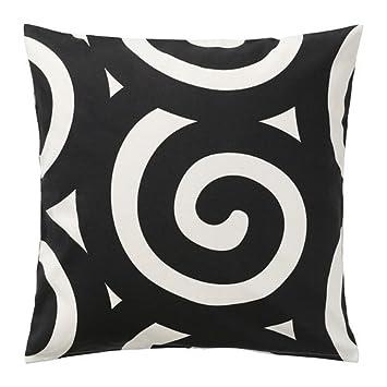 ikea housse de coussin IKEA TRADKLOVER   Housse de coussin, noir / blanc   50x50 cm  ikea housse de coussin
