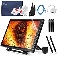 Ugee 19 Graphics Drawing Pen Display Monitor with 2 Original Rechargeable Pens, 2 USB Cables and Mini Displayport DP to VGA Adapter For MacBook Pro Air iMAC