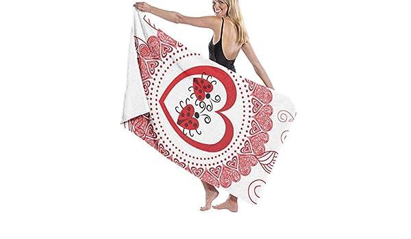 Amazon.com: SARA NELL Microfiber Beach Towel Valentines Day Red Romantic Love Bath Towel Beach Blanket Quick Dry Towel for Travel Swim Pool Yoga Camping ...