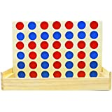 Yaye 4 in a Row,Four in a Row Wooden Game,Board Game,Classic Family Toy,Line Up 4 Of the Same Color To Win,Children and Adults For Fun
