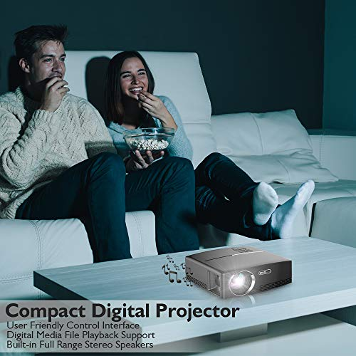 Digital Multimedia Home Theater Projector - HD 1080p Portable Digital Data System Projection w/LED, USB, HDMI Entertainment Video Photo Game Full Cinema Movie in Your Laptop - Pyle by Pyle (Image #4)