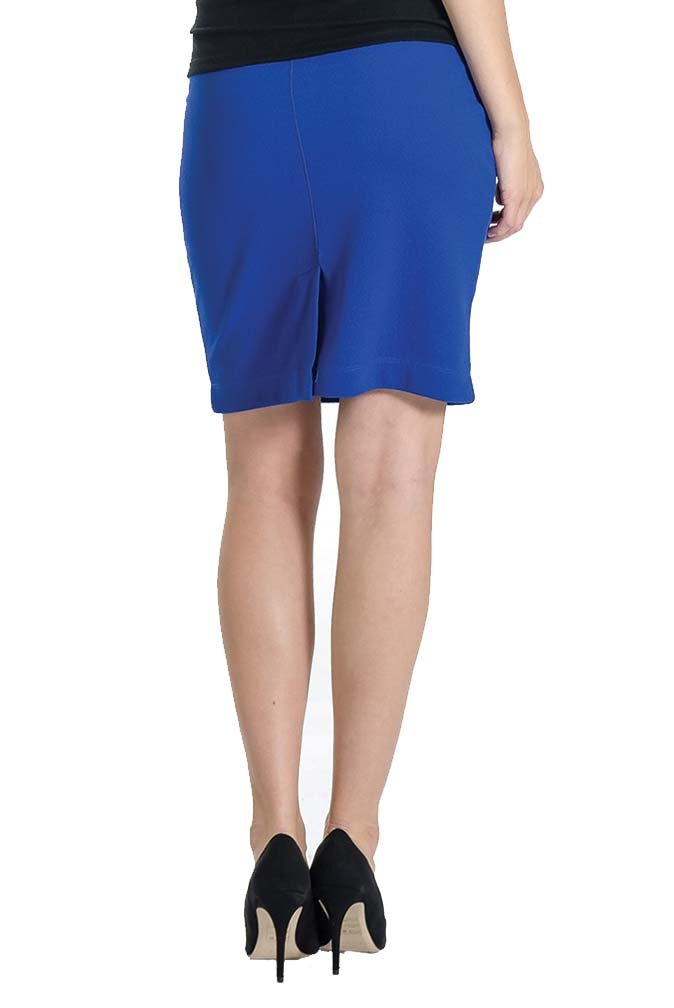 Lilac Pencil Maternity Skirt - Solid - Cobalt - Medium by Lilac (Image #3)