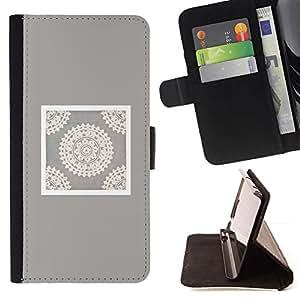 Momo Phone Case / Flip Funda de Cuero Case Cover - Artesanía Arte Dibujo Blanca - Samsung Galaxy S6 EDGE