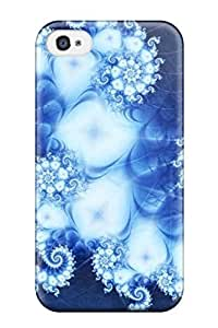 Iphone 5/5S Case Bumper Tpu Skin Cover For Amazing Blue Fractal Other Accessories