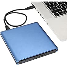 YAHEY External DVD Drive USB 3.0 Aluminum Ultra Slim External CD/DVD-RW Burner Writer Player optical drive for mac, Windows and Linux OS for player CD/ DVD Read/ Writer / Rewriter