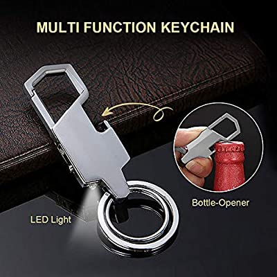LED Light Bottle Opener Carabiner Key Ring Home Tool Outdoor Business Use PiscatorZone 3 in 1 Multifunctional Anti-Lost Keychain