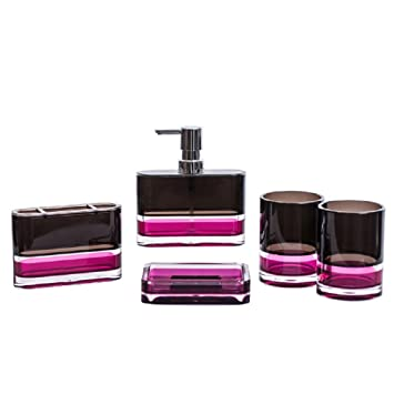 Liyongdong Licht Reim Badezimmer Bad Zubehor Sets 5 Teilige Geschenk