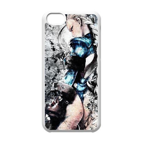 Street Fighter 4 coque iPhone 5c cellulaire cas coque de téléphone cas blanche couverture de téléphone portable EEECBCAAN02341